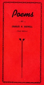 Cover 3rd ed poems Charles H Burwell