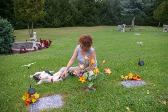 charlie and me at pet graves