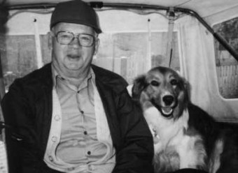 George Anger and Jamie dog 1991