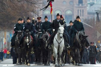 Mounted police at head of cortege for Sgt. Ryan, CTV website