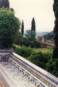 View from Knights Templar Castle in Tomar