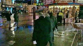 Barlows & George on Blackpool street at night