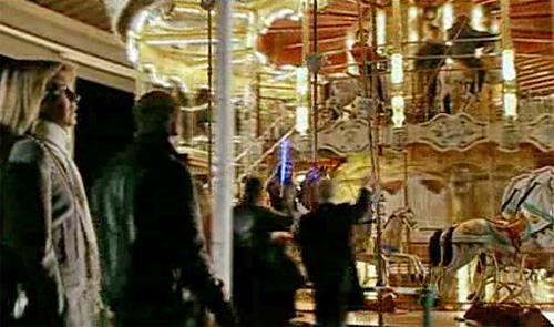 Carousel at Blackpool at night