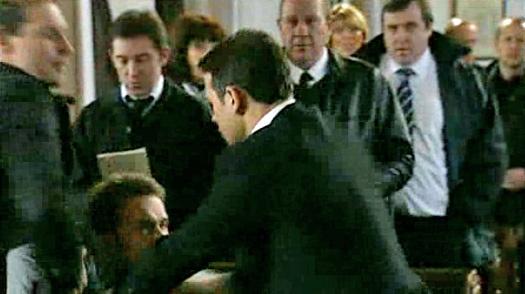 David and Jason fighting in church