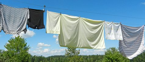 hints for clothesline hanging