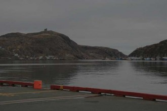 view of Narrows from harbour apron