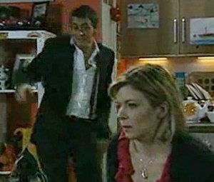 Peter back home, telling Leanne everything will be ok