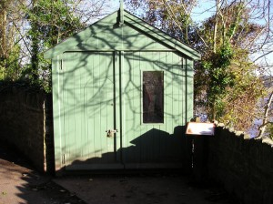 Exterior of Dylan's Writing Shed