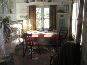 "poetry - Interior of ""Writing Shed"""