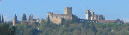View of Tomar, with castle on skyline