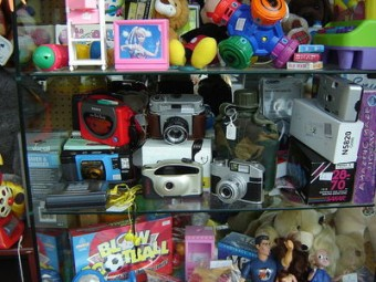 Toys in thrift store, ProfDEH, Wikimedia Commons