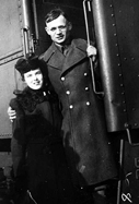 George and Ruby (Burwell) Anger 1942 on troop train
