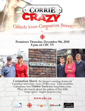"""Corrie Crazy"" airing on CBC TV"