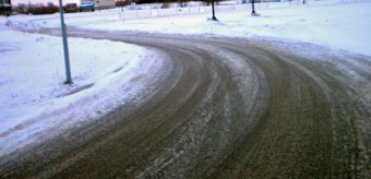 nursing home roadway in winter