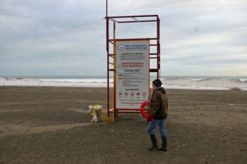 Lifeguard station in January
