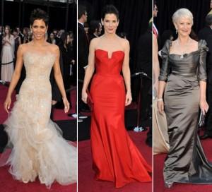Halle Berry, Sandra Bullock, Helen Mirren - 2011 oscar dresses