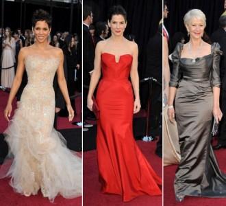 Halle Barry, Sandra Bullock, Helen Mirren - 2011 dresses