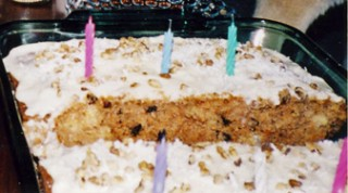 cake with pieces cut