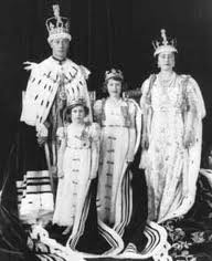 Coronation photo of George VI and family