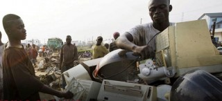 Kids recycling electronics in Ghana dump, from PBS