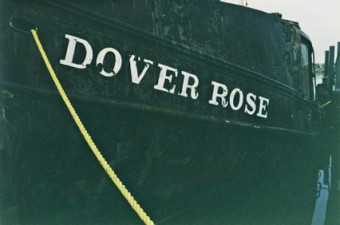 The Dover Rose, old fishing vessel at Port Dover on Lake Erie