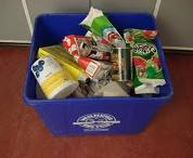 full recycling bin