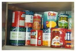 cans of food in cupboard
