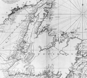 1775 James Cook map of Newfoundland