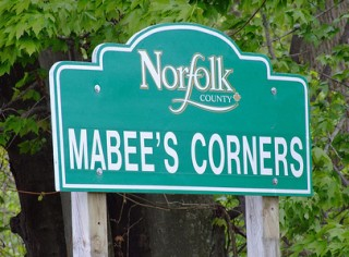 Mabee's Corners sign, Norfolk Co. ON
