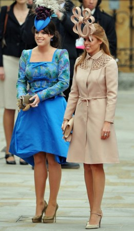 Princesses Eugenie and Beatrice at royal wedding