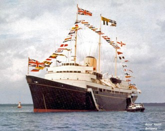 Britannia, at sea in Scotland after decommissioning