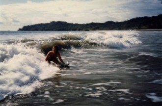 Manuel Antonio, playing in the surf