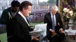 Piers Morgan & Anderson Cooper at Buckingham Palace CNN bureau