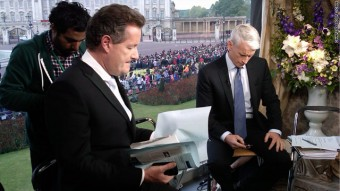 Piers Morgan & Anderson Cooper at Buckingham Palace CNN bureau
