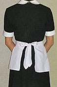 waitressing uniform, from back