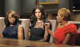 Star, Hope and Nene in the boardroom