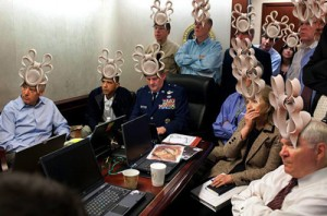 White House, with hats, from Facebook