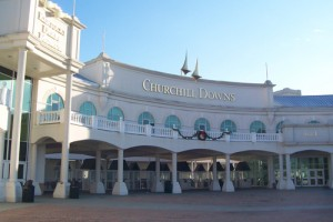 Entrance to Churchill Downs, home of the Kentucky Derby