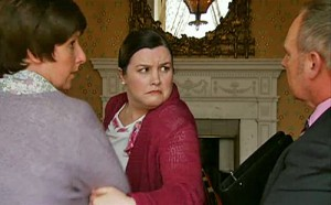 Mary leads Hayley away from hotel manager