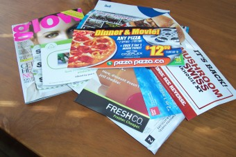 magazines and 'offers' sent by mail