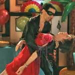 Hayley, in salsa dress, with Javier