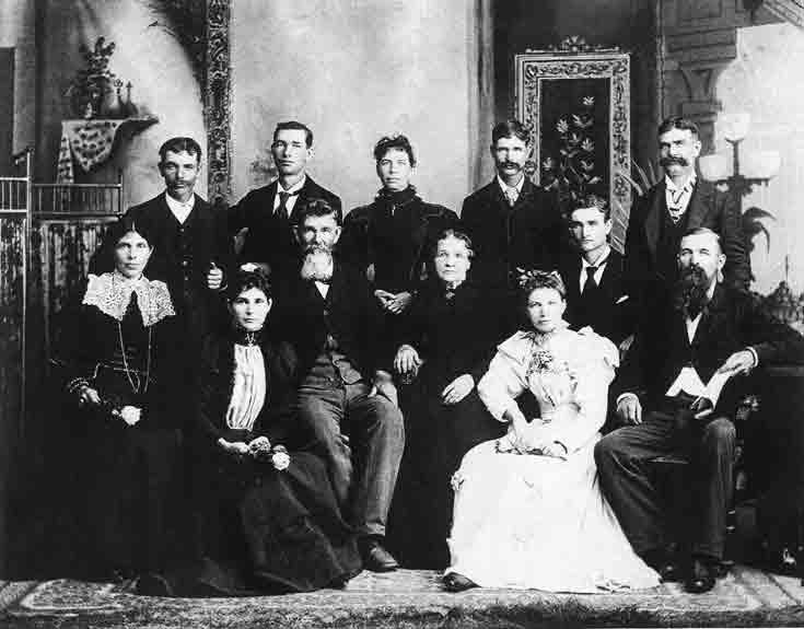 Wm Pinckney Mabee family 1880s