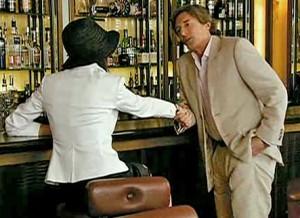 Lewis meeting new woman at airport bar