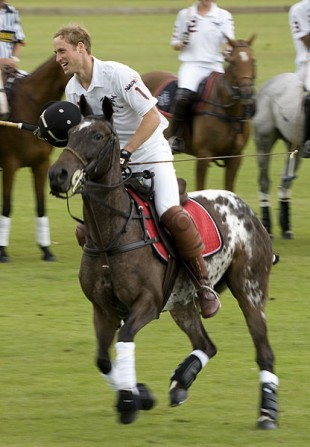 Prince William playing polo (commons.wikimedia.org)