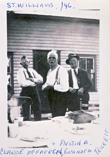 Anger Photos - Austin Anger, Sam Trickett and Claude McFarren 1946
