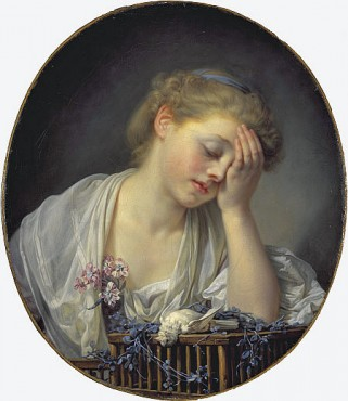 Girl with a canary, 1765 painting by Jean-Baptiste Greuze