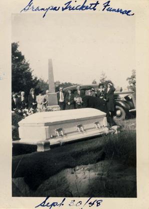 Sam Trickett funeral 1948