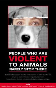 Domestic Violence PETA poster