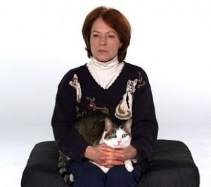 Diane holding cat