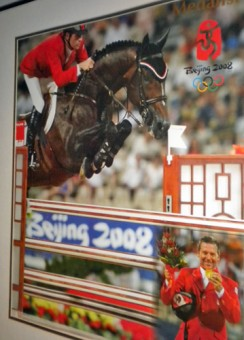 2008 Olympics poster, Eric Lamaze and Hickstead